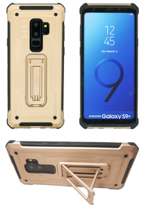 Samsung Galaxy S9 Plus MM Opal Kickstand Case Gold(Full Curved Tempered Glass Included)
