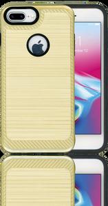 Iphone 7 PLUS/8 PLUS Carbon Fiber Metal Gold