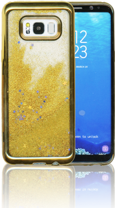 Samsung Galaxy S8 Plus MM Electroplated Water Glitter Case With Stars Gold