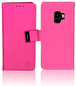 Samsung Galaxy S9 MM Premium Folio Wallet Hot Pink