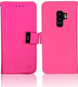 Samsung Galaxy S9 Plus MM Premium Folio Wallet Hot Pink