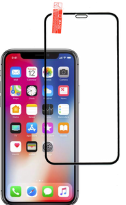 iPhone 11 PRO/XS/X/10  3D Full Covered  Tempered Glass Black