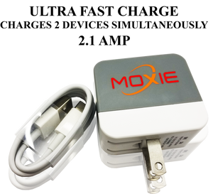 Moxie  Ultra Fast Travel Charger 2.1 AMP With (TYPE C CABLE)