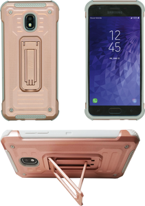 Samasung Galaxy J3(2018) MM Opal Kickstand Case Rose Gold(Tempered Glass Included)