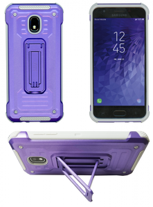 Samasung Galaxy J3(2018) MM Opal Kickstand Case Purple(Tempered Glass Included)
