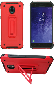 Samasung Galaxy J3(2018) MM Opal Kickstand Case Red(Tempered Glass Included)