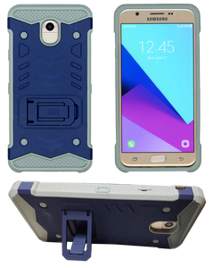Samasung Galaxy J7 Star/Refine/(2018) MM Opal Kickstand Case Navy(Tempered Glass Included)