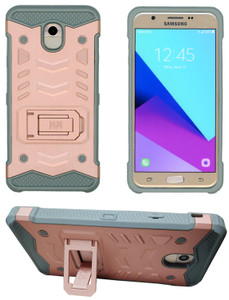 Samasung Galaxy J7 Star/Refine/(2018) MM Opal Kickstand Case Rose Gold(Tempered Glass Included)