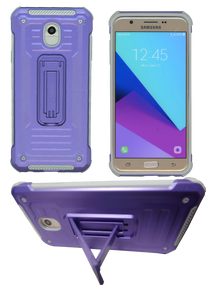 Samasung Galaxy J7 Star/Refine/(2018)  MM Opal Kickstand Case Purple(Tempered Glass Included)