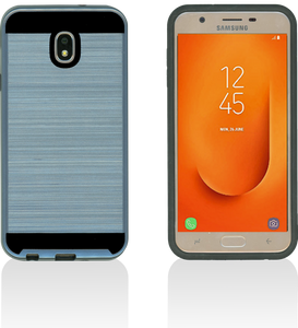 Samsung Galaxy J7 Star/Refine/(2018) MM Slim Dura Metal Finish Ink Blue
