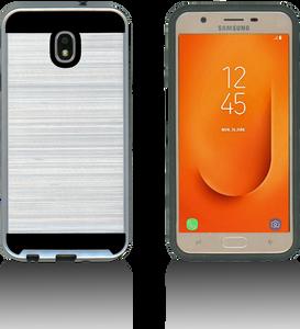 Samsung Galaxy J7 Star/Refine/(2018) MM Slim Dura Metal Finish Silver