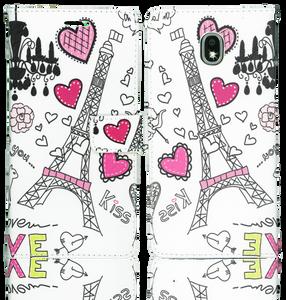 Samsung Galaxy J7 Star/Refine/(2018) Professional Wallet Eiffel Tower
