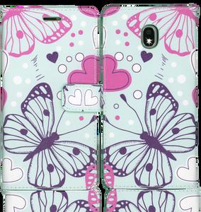 Samsung Galaxy J7 Star/Refine/(2018) Professional Wallet Butterfly