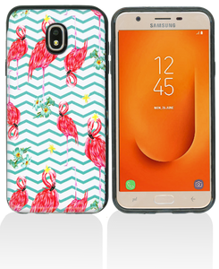 Samsung Galaxy J7 Star/Refine/(2018) MM Pop Kick Case Peacock Chevron