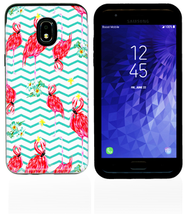 Samsung Galaxy J3(2018) MM Pop Kick Case Peacock Chevron