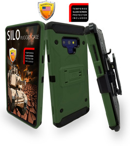 Samsung Galaxy Note 9 MM Silo Rugged Case Army Green(Curved Tempered Glass Included)