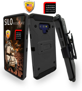Samsung Galaxy Note 9 MM Silo Rugged Case Dark Grey(Curved Tempered Glass Included)