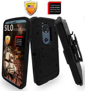Motorola E5 Plus /E5 Supra MM Silo Rugged Case Black