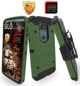 Motorola E5 Plus /E5 Supra MM Silo Rugged Case Army Green