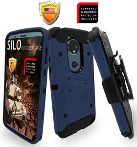 Motorola E5 Plus/E5 Supra MM Silo Rugged Case Navy