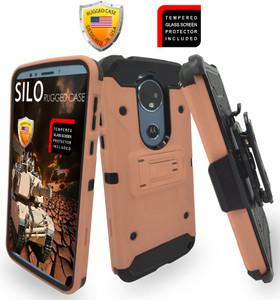 Motorola E5 Plus/E5 Supra MM Silo Rugged Case Rose Gold