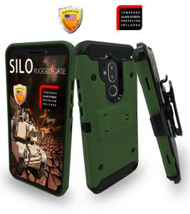 Alcatel 7 Folio MM Silo Rugged Case Army Green