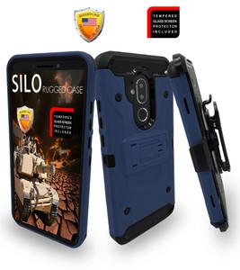 Alcatel 7 Folio MM Silo Rugged Case Navy