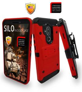 Alcatel 7 Folio MM Silo Rugged Case Red