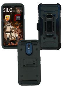 LG Q7 MM Silo Rugged Case Black
