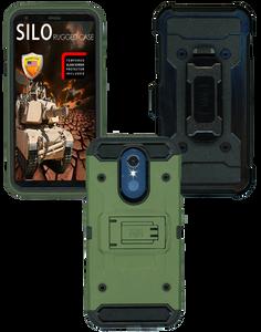 LG Q7 MM Silo Rugged Case Army Green