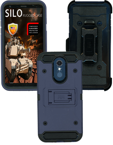 LG Q7 MM Silo Rugged Case Navy