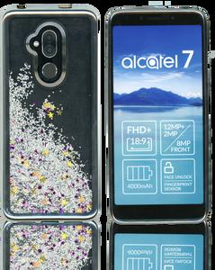 Alcatel 7 Folio MM Electroplated Water Glitter Silver