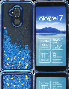 Alcatel 7 Folio MM Electroplated Water Glitter Blue
