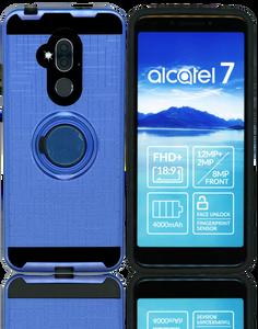 Alcatel 7 Folio MM Metal Ring Stand Case Blue