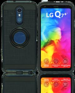 LG Q7/Q7 PLUS MM Ring Stand Case Black