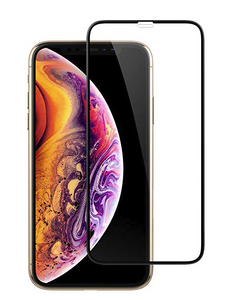 iPhone 11 PRO MAX/XS Max MM Full Covered Tempered Glass Black