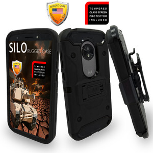 Motorola E5 Play/Cruise MM Silo Rugged Case Black