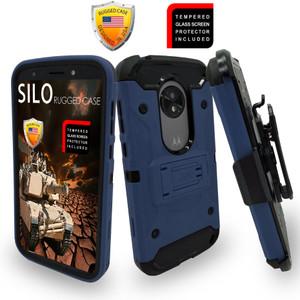 Motorola E5 Play/Cruise MM Silo Rugged Case Navy
