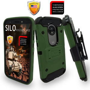 Motorola E5 Play/Cruise MM Silo Rugged Case Army Green