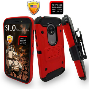 Motorola E5 Play/Cruise MM Silo Rugged Case Red
