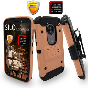 Motorola E5 Play/Cruise MM Silo Rugged Case Rose Gold