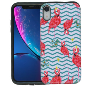iPhone XR MM Pop Kick Case Peacock Chevron