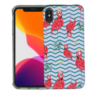 iPhone XS MAX MM Pop Kick Case Butterfly Peacock Chevron