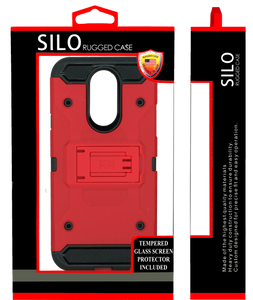 LG Q7/Q7 PLUS MM Silo Rugged Case Red