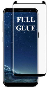 Samsung Galaxy S8 MM Full Glue Curved Glass Black-Case Friendly
