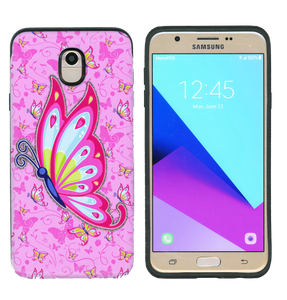 Samsung Galaxy J7 Star/Refine/(2018) MM Pop Kick Case Pink Butterfly