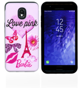 Samsung Galaxy J3(2018) MM Pop Kick Case Pink Butterfly