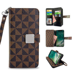 Samsung J7(2018) MM Portfolio Case Brown Pattern