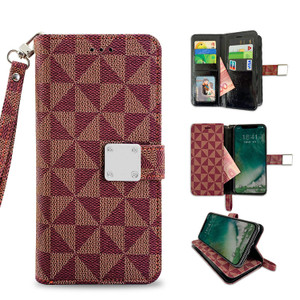 Samsung J3(2018) MM Portfolio Case Red Pattern