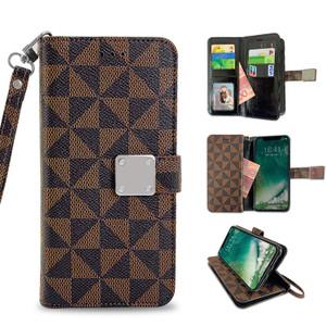 Motorola E5 Play MM Portfolio Case Brown Pattern